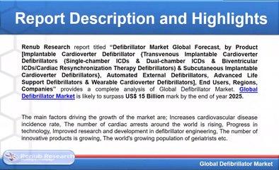 Global Defibrillator Market will be US$ 15 Billion mark by 2025
