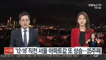 '12·16' 직전 서울 아파트값 또 상승…25주째