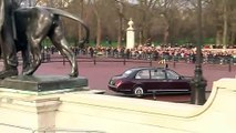 Queen Elizabeth departs for the State Opening of Parliament