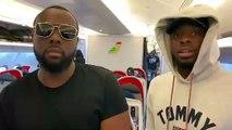 Dadju et Maître Gims à bord d'Air Sénégal_ Direction Dakar