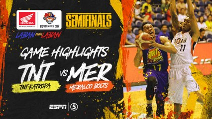 Highlights: G3: TNT vs Meralco | PBA Governors' Cup 2019 Semifinals