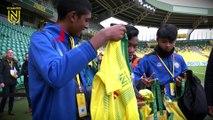 3 jeunes de Singapour en visite au FC Nantes !