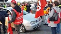 Vesoul : les manifestants contre le projet de réforme des retraites bloquent la RN19