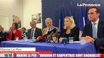 Municipales : Marine Le Pen vient apporter son soutien aux candidats RN du Vaucluse