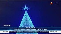 Melihat Keindahan Pohon Natal Berbahan Logam Daur Ulang