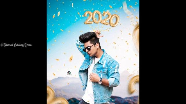 Picsart Happy New year 2020 photo editing in picsart Bharat Editing Zone