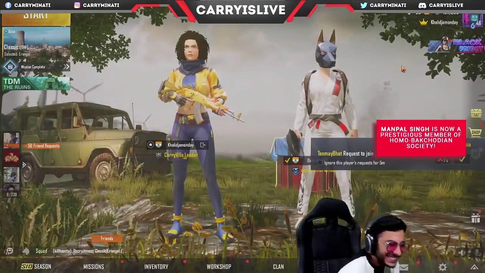 Bakchodi in live stream video by Indian gamer