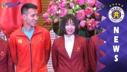 Hùng Dũng cảm ơn sự quan tâm của Lãnh đạo TP. Hà Nội sau thành công tại SEA Games 30 | HANOI FCv