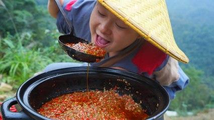 【Shyo video】在深山,辣椒醬這樣吃才過癮,看餓了