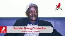 CRM scribe bar NDONG CHRISTOPHER explains party's decision to boycott 2020 twin polls