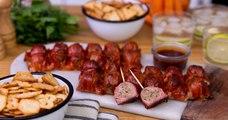 C'est l'heure de l'apéro! Préparez de délicieuses boulettes de viande enrobées de bacon