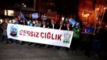 """Doğu Türkistan için """"Sessiz Çığlık"""" eylemi"""