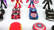 Learn Colors, Shapes, and Letters with Marvel Avengers Superhero Toys, Hot Wheels Cars, and Tsum Tsums-