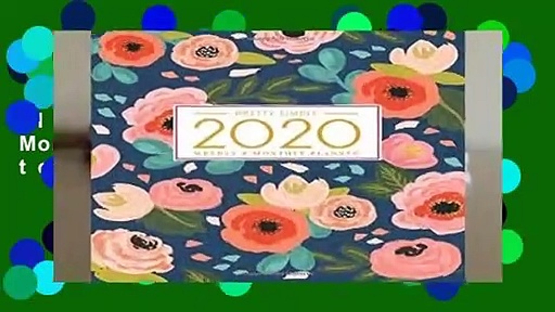 Full E-book  2020 Planner Weekly and Monthly: Jan 1, 2020 to Dec 31, 2020: Weekly   Monthly