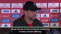 Flamengo were told to win, we were told to play Carabao Cup - Klopp