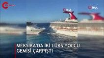 Yolcu gemilerinin çarpışma anı kamerada