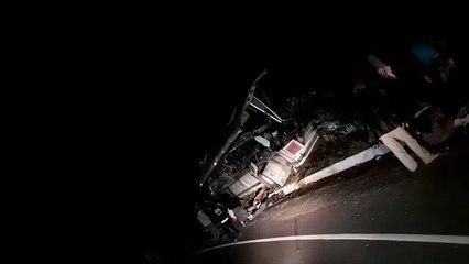 Dan a conocer nuevo vídeo del accidente en ruta al Atlántico de este viernes