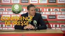 Conférence de presse RC Lens - Chamois Niortais (1-0) : Philippe  MONTANIER (RCL) - Pascal PLANCQUE (CNFC) - 2019/2020