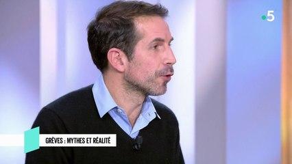 Grèves : mythes et réalité - C l'hebdo - 21/12/2019