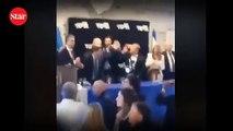 Netanyahu için korku dolu gece!; Konuşmasını 'roket' kesti
