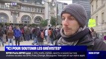 Ce professeur de SVT est venu soutenir les grévistes à la gare de Lyon à Paris
