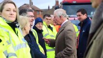 HRH The Prince of Wales visited flood-hit communities in Fishlake, South Yorkshire.