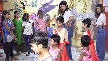 Mouni Roy celebrates Christmas with Ngo kids;Watch video | FilmiBeat
