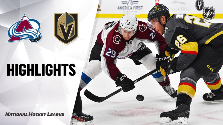 NHL Highlights | Avalanche @ Golden Knights 12/23/19