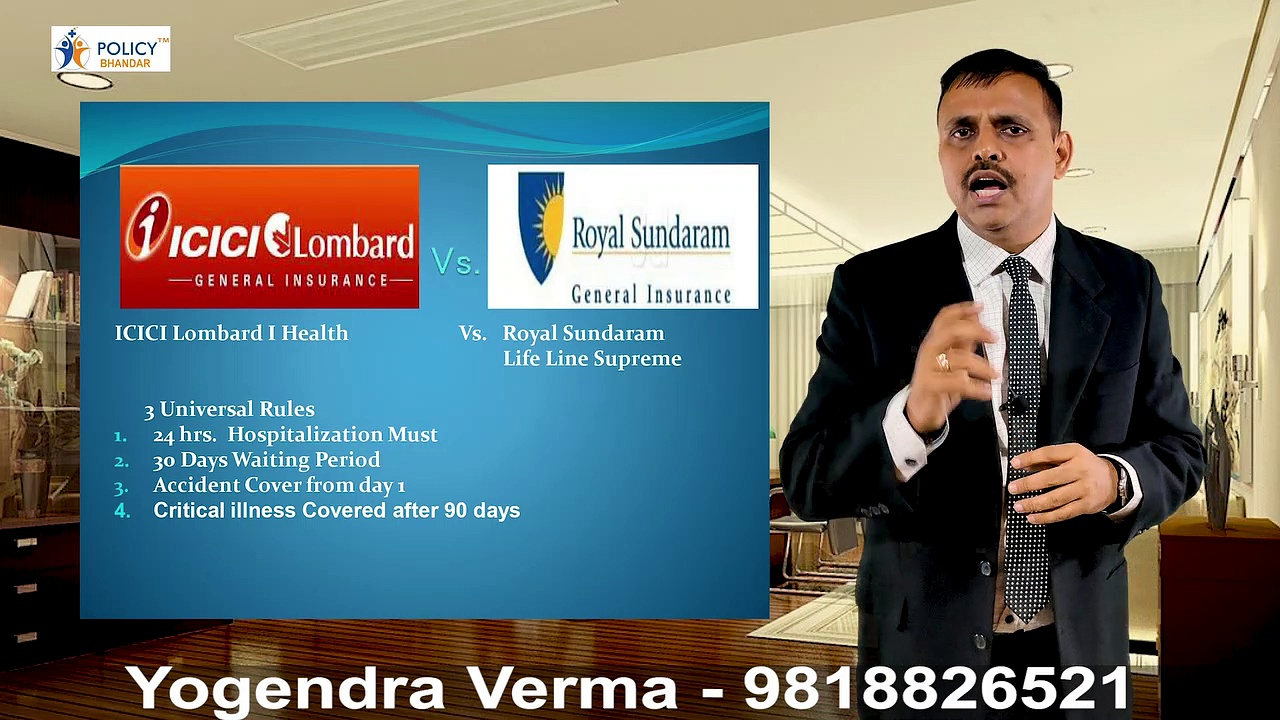 ICICI Lomard Vs Royal Sundram Life Line Supreme | Health Insurance | Mediclaim | Policy Bhandar