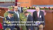 Algérie: des citoyens réagissent à la mort du général Ahmed Gaïd Salah