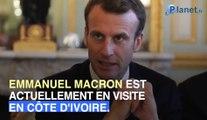 Emmanuel Macron a été fait chef traditionnel ivoirien le jour de ses 42 ans