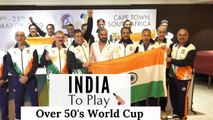ANNOUNCEMENT OF THE INDIAN OVER 50 CRICKET TEAM WITH SUNIEL SHETTY