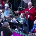 Basket-Ball - NBA - Giannis Antetokounmpo gives his shoes to a child