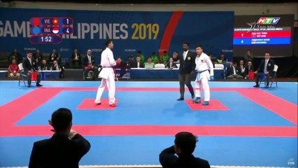 Võ sĩ karate Chu Đức Thịnh TỨC TƯỞI mất huy chương những giây cuối cùng