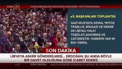 Başkan Erdoğan'dan Libya tezkeresi açıklaması: Meclis açılır açılmaz ilk iş...