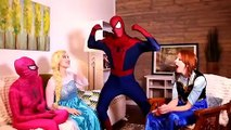 Frozen Elsa & Spiderman, Funny Moments, needle is made and regains health
