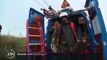 Gironde : des agents rétablissent l'électricité après le passage de la tempête Fabien