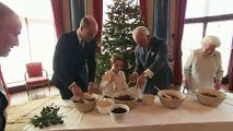 Prince George makes Christmas pudding with Queen Elizabeth
