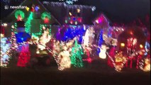 Lit! Insane Christmas display with 70,000 lights in Chicago suburb