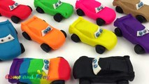 Learn Colors and Numbers with Play Doh Disney Pixar Cars and Doraemon Molds Fun and Creative for Kids