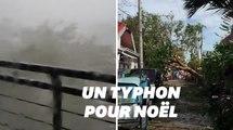 La soirée de Noël a été gâchée par un violent typhon aux Philippines