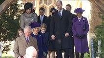 Queen Elizabeth and family attend church- with a few notable absences