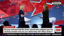 Kirsten Gillibrand says that her comments that former President Bill Clinton should have resigned amid the Monica Lewinsky scandal did not cost her the relationship she has with former first lady Hillary Clinton.