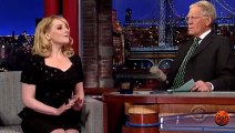 How David Letterman interacting w female guests on Late Late Show