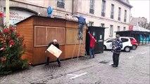 A Montbéliard, le démontage du marché de Noël a débuté