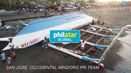 Aerials: Beachside devastation after Typhoon Ursula hit Philippines