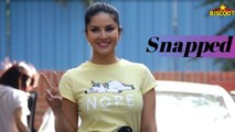 Sunny Leone Spotted At Play School Juhu