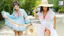 Hina Khan Flaunts Her Beach Body During Maldives Vacation