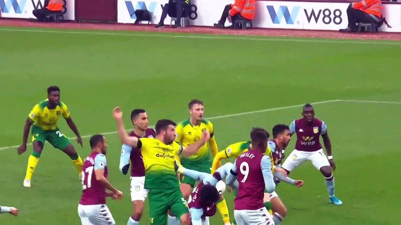 Aston Villa - Norwich (1-0) - Maç Özeti - Premier League 2019/20