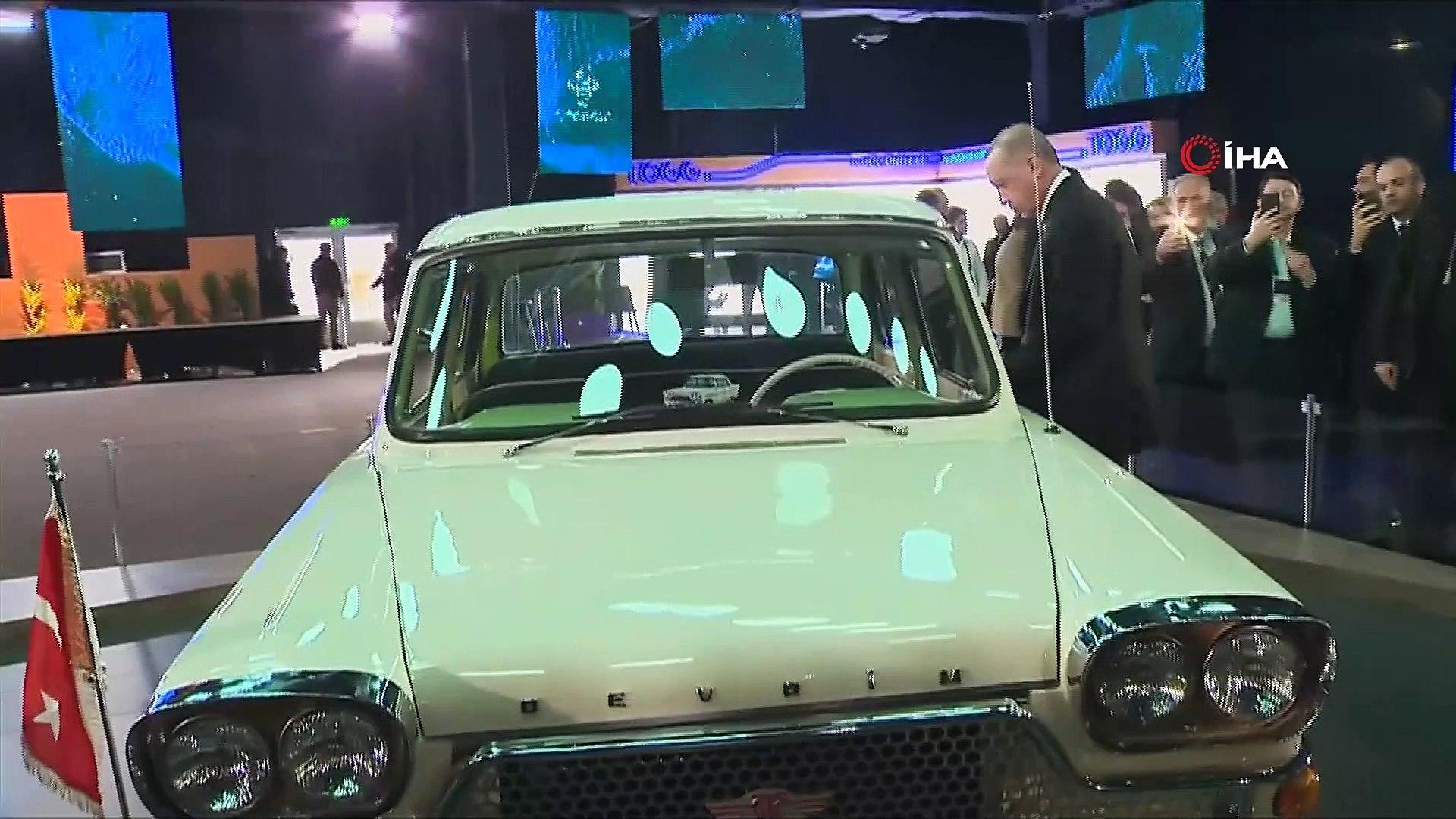 Cumhurbaşkanı Erdoğan, Türkiye'nin yerli otomobilinin tanıtım toplantısına katıldı